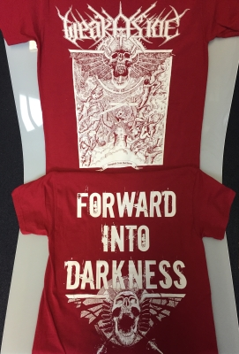 WEAK ASIDE - Forward Into Darkness - T-SHIRT (cardinal RED)
