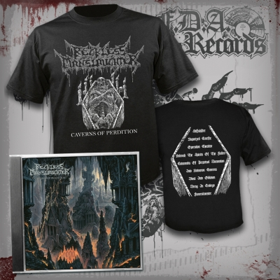 RECKLESS MANSLAUGHTER - Caverns Of Perdition - CD + T-SHIRT BUNDLE