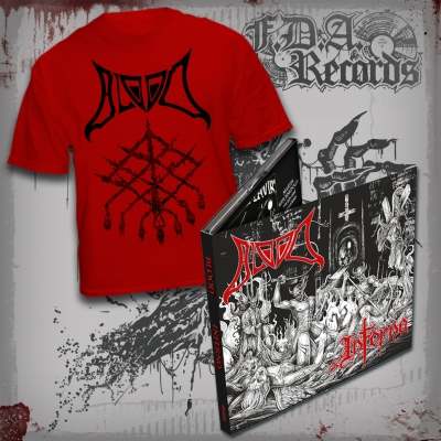 BLOOD - Inferno - Deluxe DIGIPAK CD + T-SHIRT (red) bundle