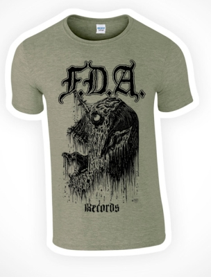 FDA RECORDS - Syringe Head - T-SHIRT (color: heather military green)