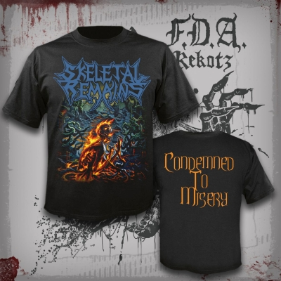 SKELETAL REMAINS - Condemned To Misery - T-Shirt