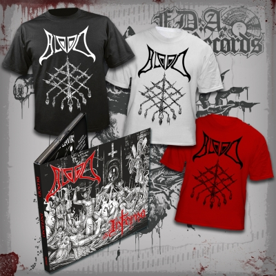 BLOOD - Inferno - DIE HARD BLOOD PACK (DIGIPAK CD+ 3x T-SHIRT (black+white+red)