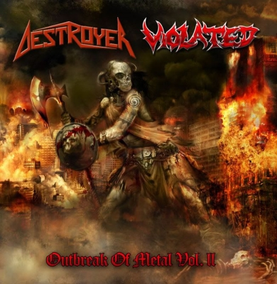 DESTROYER / VIOLATED - split CD