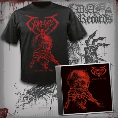 GOREGAST - Covered In Skin - MCD + T-SHIRT BUNDLE